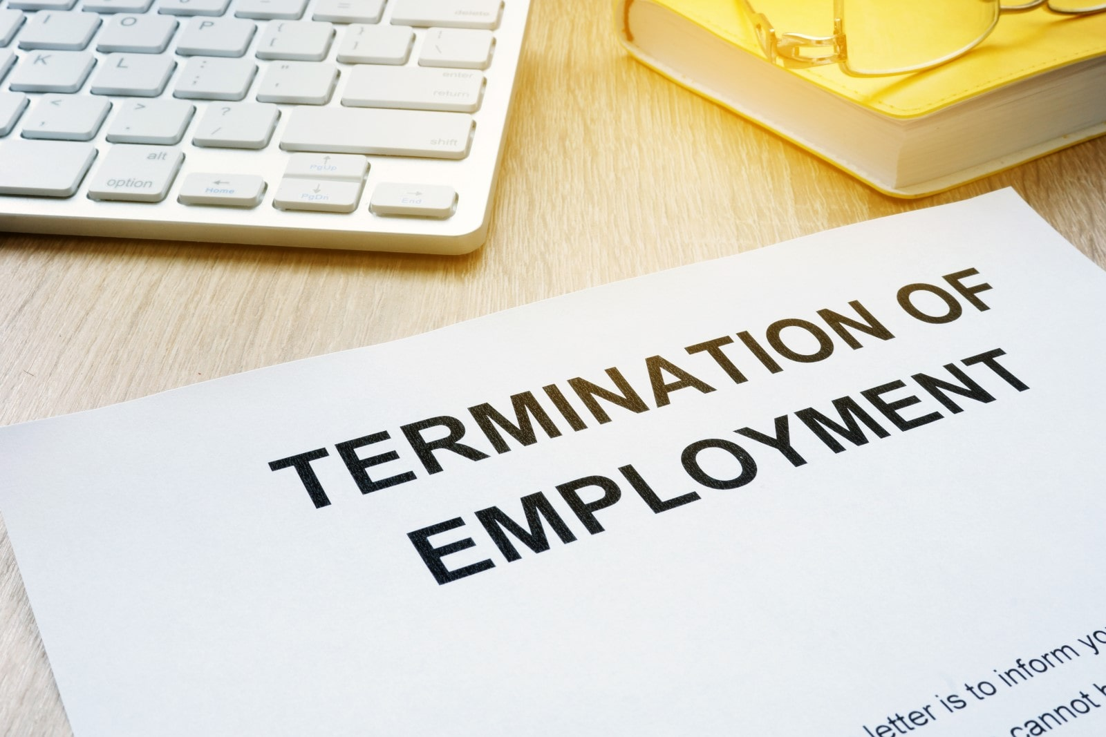 A letter with the title Termination of Employment