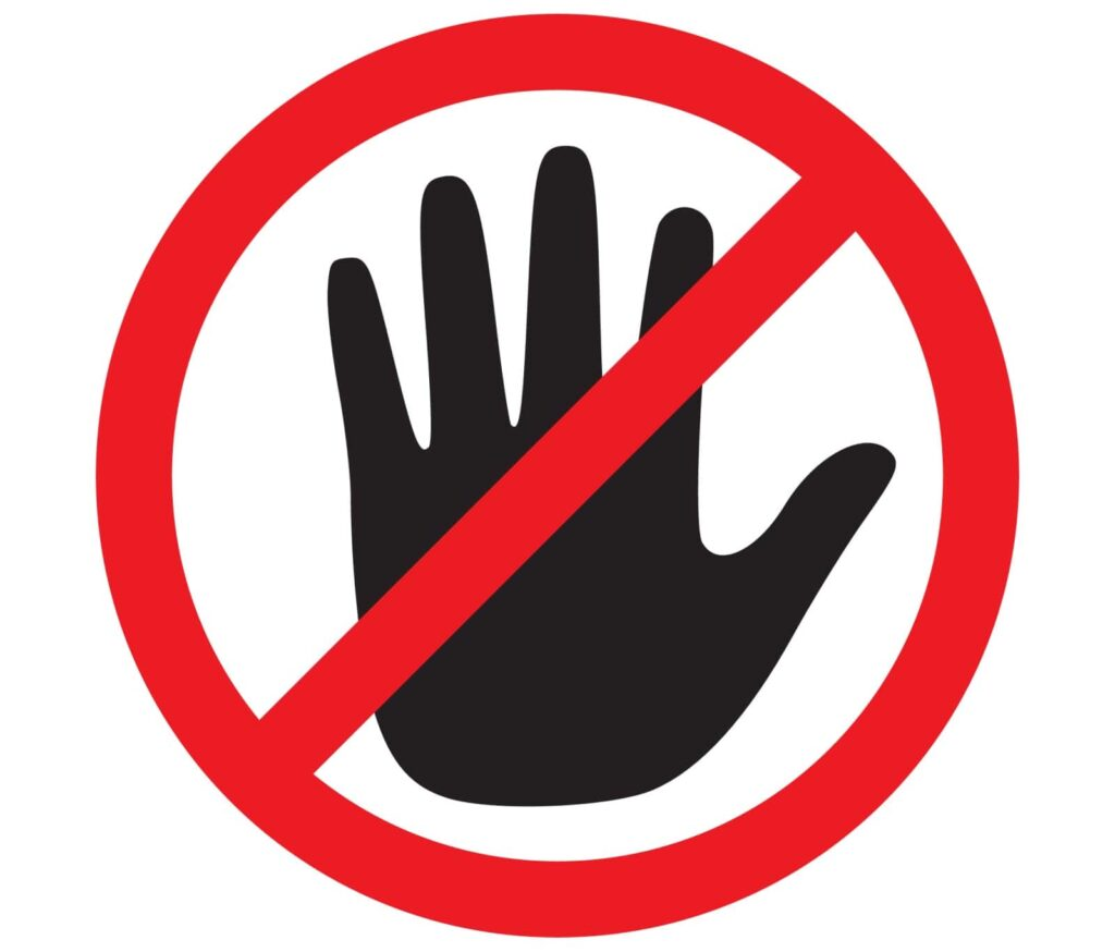 Stop symbol --> What to avoid in a termination letter