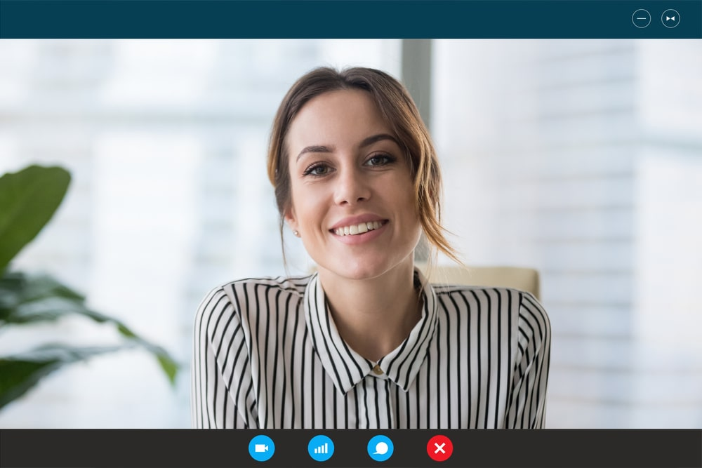 online 1o1 Meeting with a woman